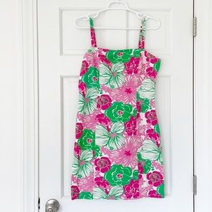 LILLY PULITZER dress size 6 pink green cotton